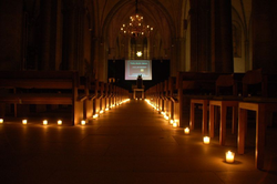 """Night of Light"" der Jugendkirche in der Marienkirche Lippstadt"